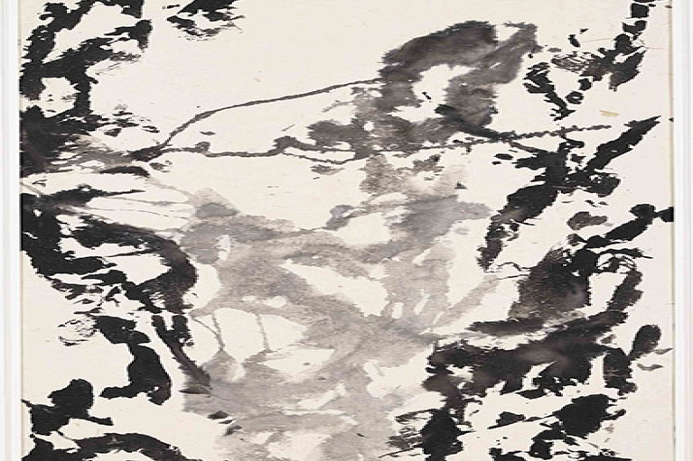 Zao Wou-Ki, Untitled, 1997, Indian ink on Japan paper, 120 x 57 cm