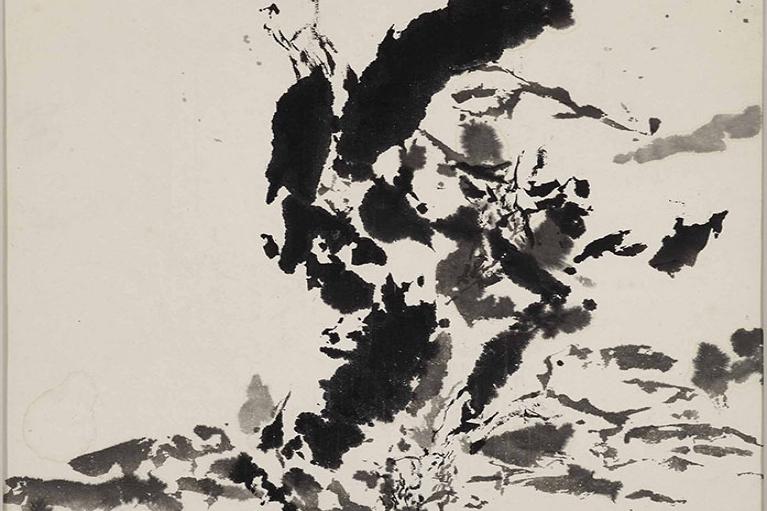 Zao Wou-Ki, Untitled, 1999, Ink on paper, 59 x 59 cm