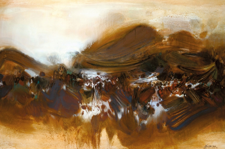 Chu Teh Chun, 28 Juin 1964, 1966, Huile sur toile, 130 x 195 cm