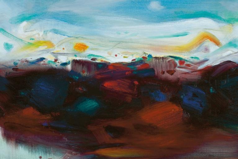 朱德群, 對比, 2006, 布本油畫, 73 x 92 厘米