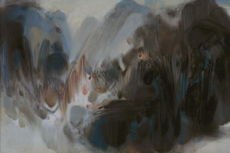 朱德群, 無題 229號, 1966, 布本油畫, 130 x 195 厘米