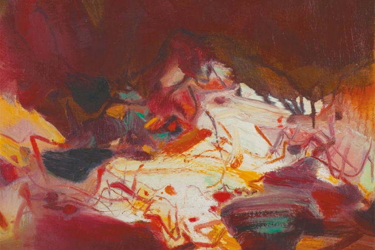 Chu Teh Chun, Composition, 1979, Huile sur toile, 65 x 50 cm
