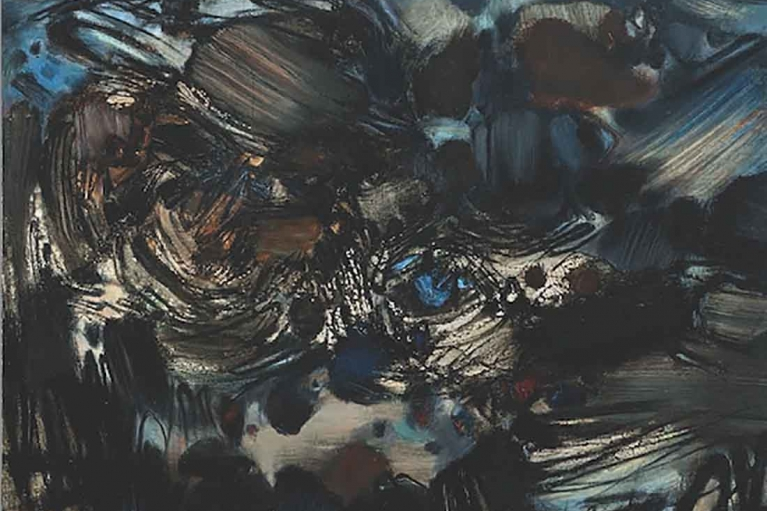 朱德群, 無題 195號, 1965 - 1966, 布本油畫, 146 x 114 厘米