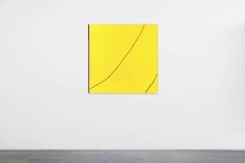 Zhong Wei, Yellow Opportunity, 2019, Acrylic on canvas, 120 x 120 cm