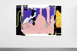 Zhong Wei, Coupling Flesh and Purple, 2019, Acrylic on canvas, 155 x 200 cm