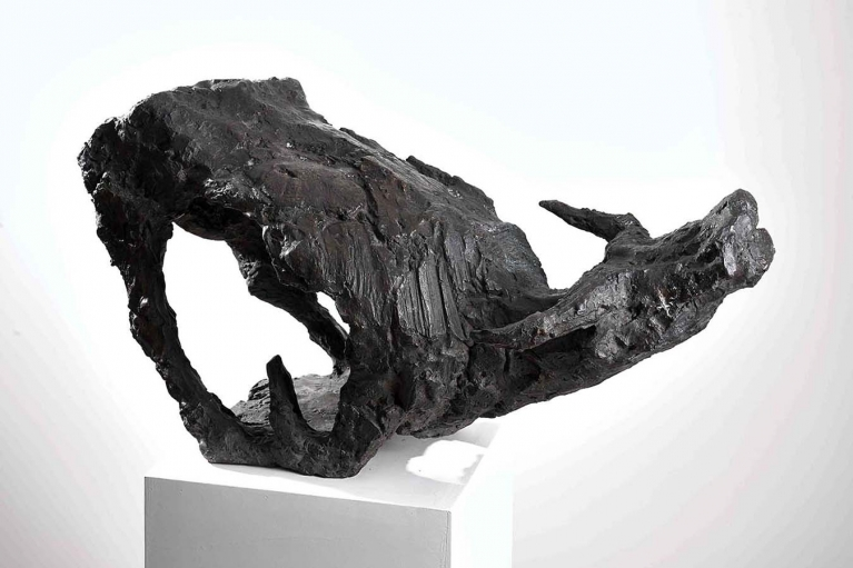 Xiong Bingming, Chinese Earth Buffalo, 1969, Bronze, 35 x 68 x 26 cm