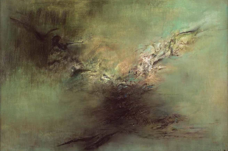 赵无极, 02.04.59, 1959, 布本油画, 91 x 132 厘米