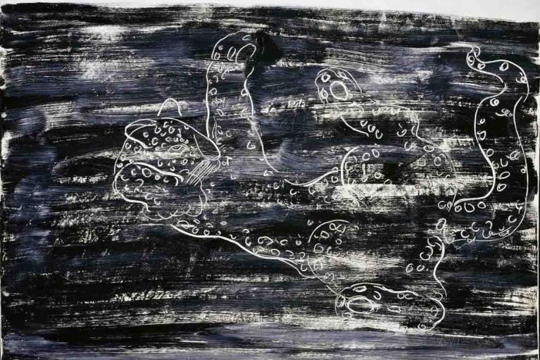 常玉, 豹, 1931, 布本油画, 93 x 116 厘米