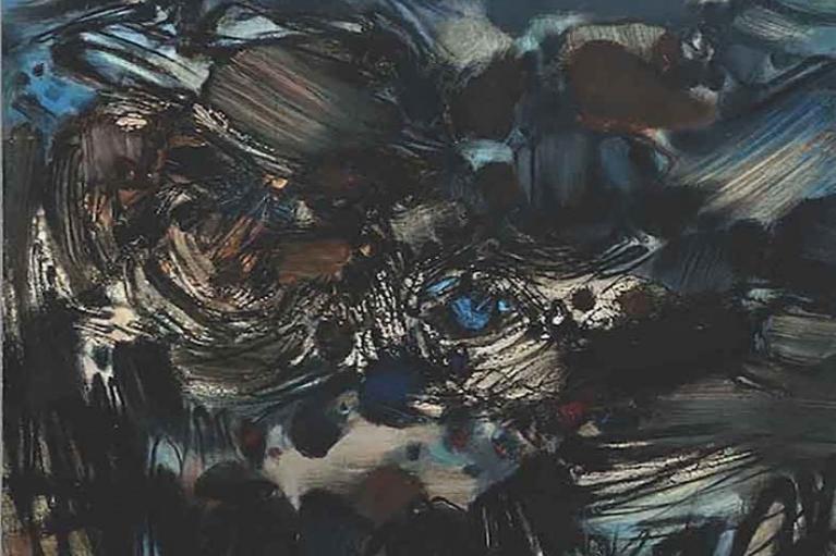 朱德群, 无题 195号, 1966, 布本油画, 146 x 114 厘米