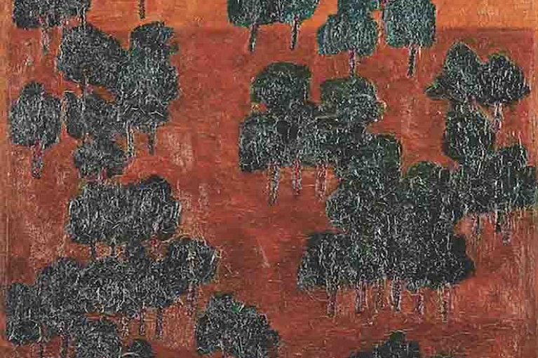 T'ang Haywen, Untitled, 1964, Oil on canvas, 61.8 x 50.5 cm