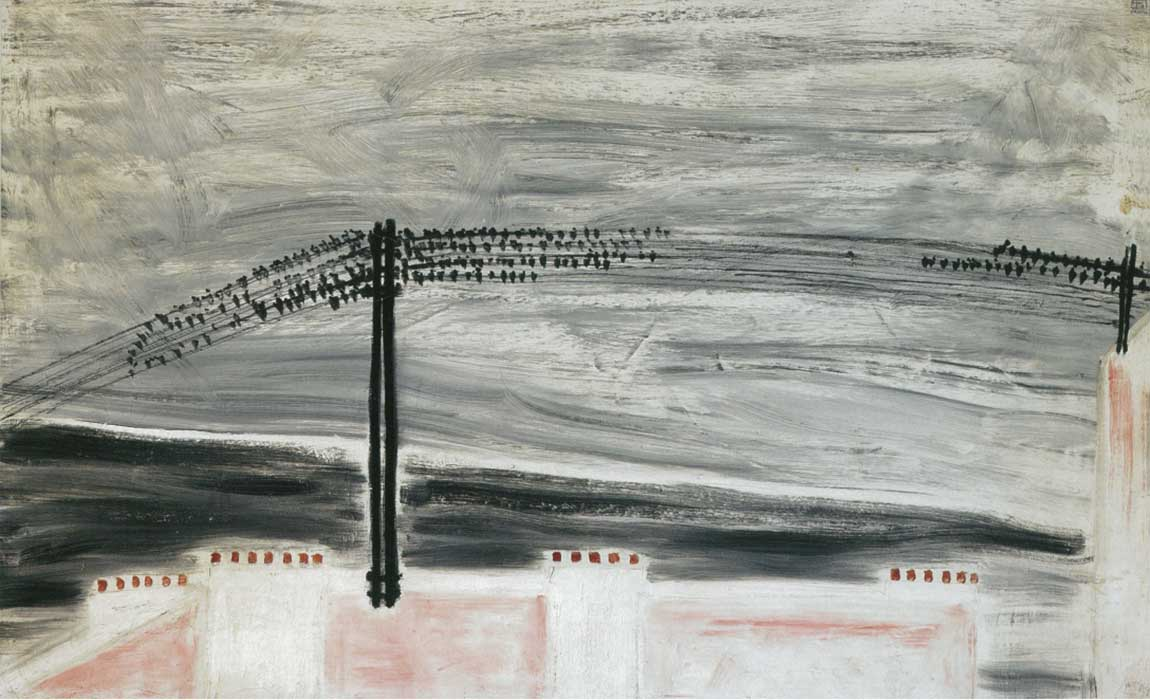 Sanyu, Sparrows on a Line, 1931, Oil on canvas, 50 x 80