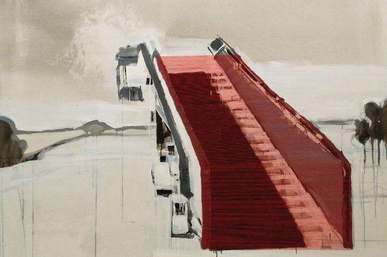 林菁菁, 永不, 2014, 布本油畫, 150 x 180 厘米