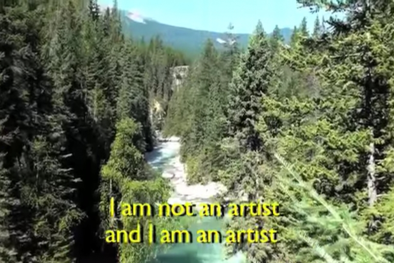 Mak Ying Tung, I am not an Artist, and I am an Artist, 2016, Karaoke video, 3'44''