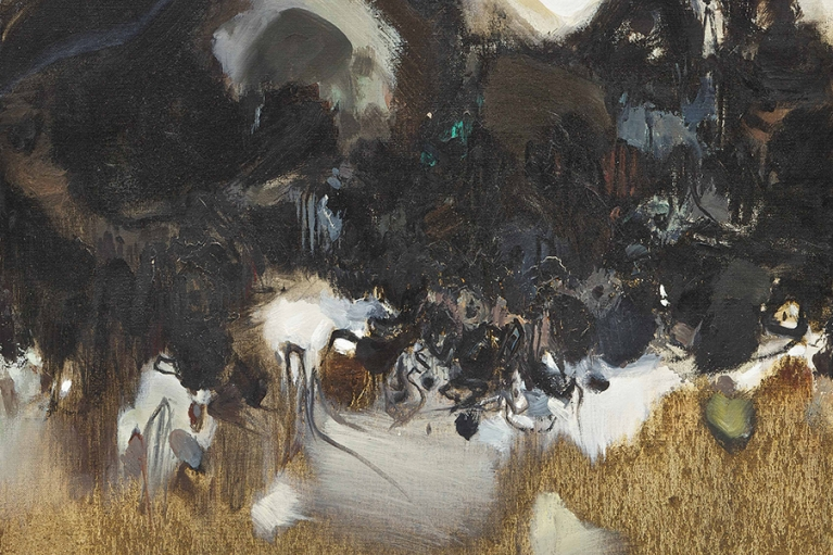Chu Teh-Chun, Untitled, 1957, Oil on canvas, 60 x 60 cm