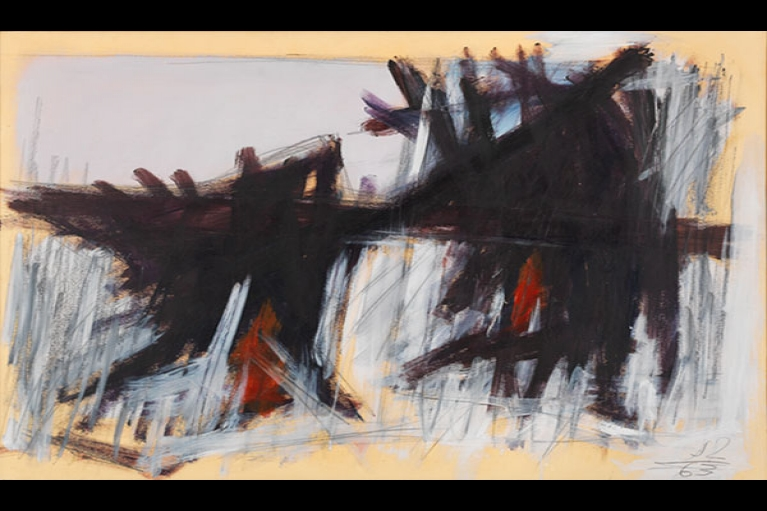Jack Tworkov, Untitled, 1963, Oil and graphite on paper laid down on masonite, 76 x 102 cm