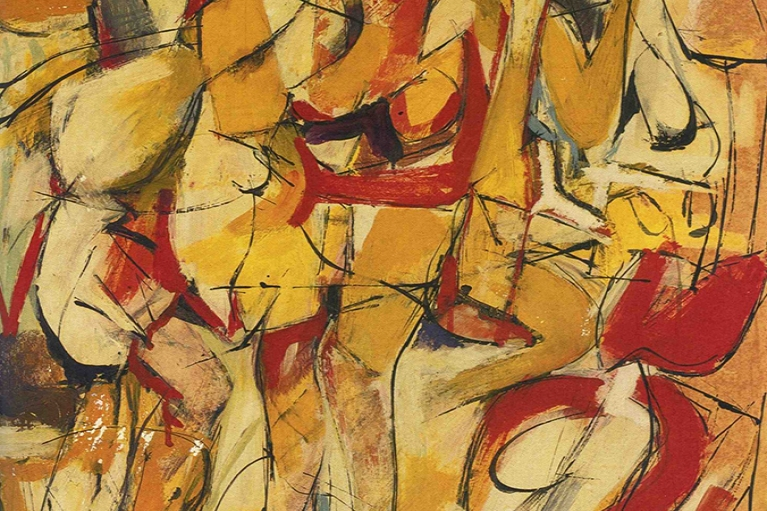 Jack Tworkov, Study for Sirens, 1951, Oil on paper laid on fireboard, 80 x 64 cm