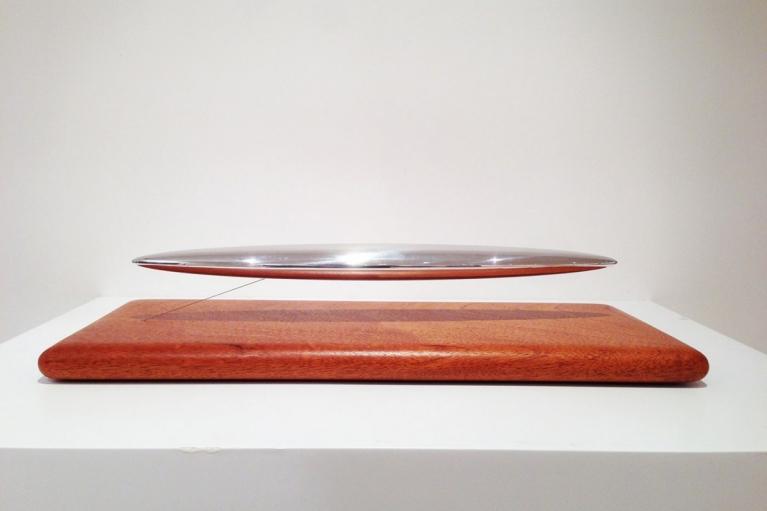 Thomas Shannon, Dreamboar, 2005, Mahagony wood base and aluminium, 40.6 x 19.1 x 10.2 cm