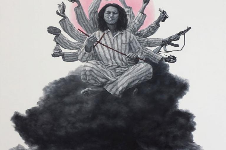 趙金鶴, Mess, 2014, 布本油畫, 200 x 140厘米