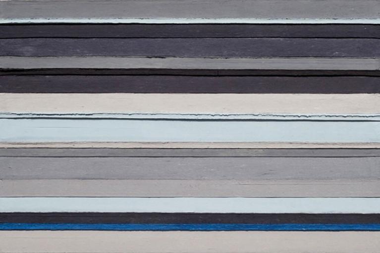 周文斗, 北京空氣(2013年一月)系列2, 2013, 北京晚間新聞, 丙烯顏料, 木盒, 200 x 154厘米
