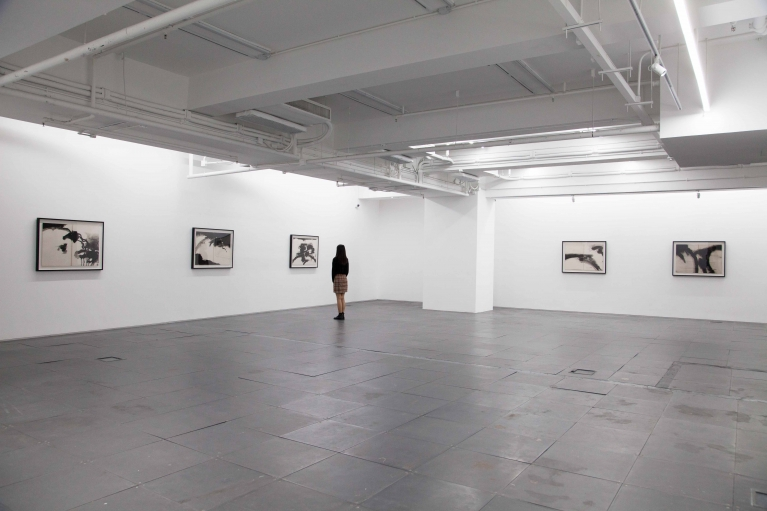 Installation view of T'ang Boogie: film d'artiste & featured rare paintings