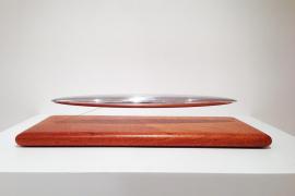 Thomas Shannon, Dreamboat, 2005, Mahogany wood base and aluminium, 40.6 x 19.1 x 10.2 cm