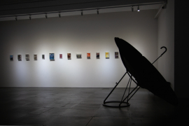 Installation view of We No Longer See the Stars