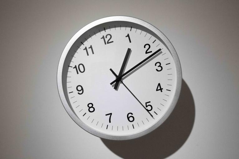 Thomas Shannon, Relativity Clock, 2012, Wall clock (steel, glass, aluminium, plastic)