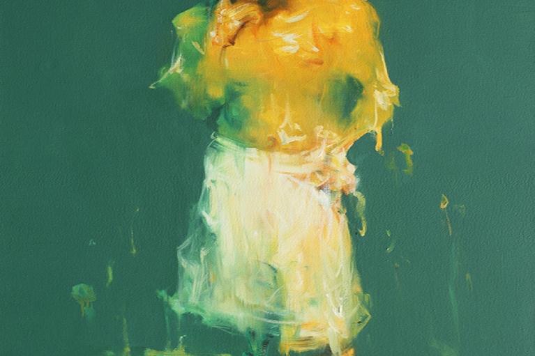 吳建軍,戴浴帽的男子,2007,布面油畫,130 x 80 厘米