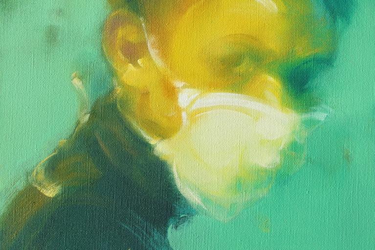 吳建軍,小頭像3號,2016,布面油畫,45 x 35 厘米
