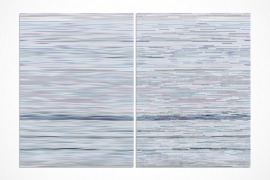 Wang Guofeng, Memory No. 6, 2013, Giclee print mounted on Diasec, diptych