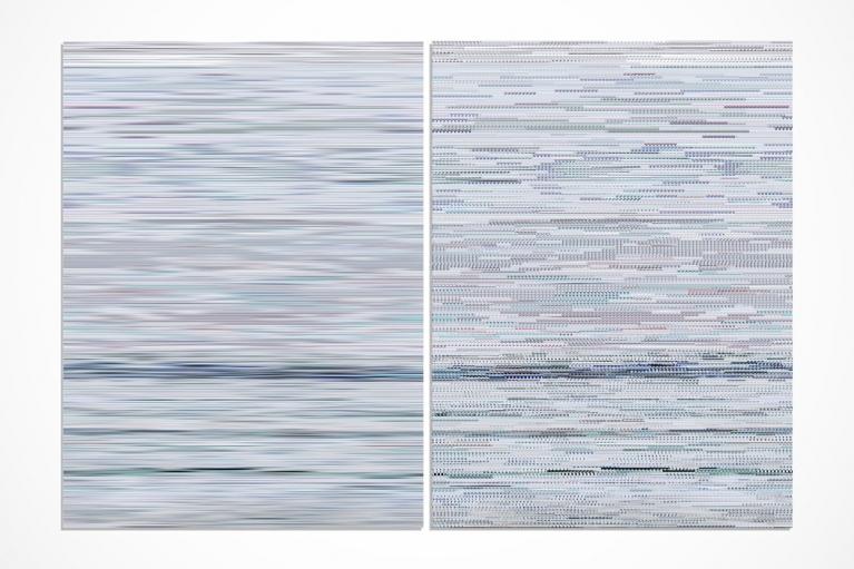 王国锋, 记忆No. 6, 2013, Diasec 装裱Giclee印画, 二联画, 199 x 298厘米