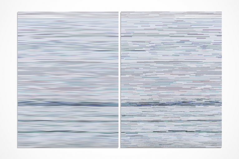 Wang Guofeng, Memory No. 6, 2013, Giclee print mounted on Diasec, diptych , 199 x 298 cm