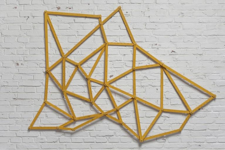 周文斗, Streets No. 1, 2014, 装置, 140 x 200 x 10厘米