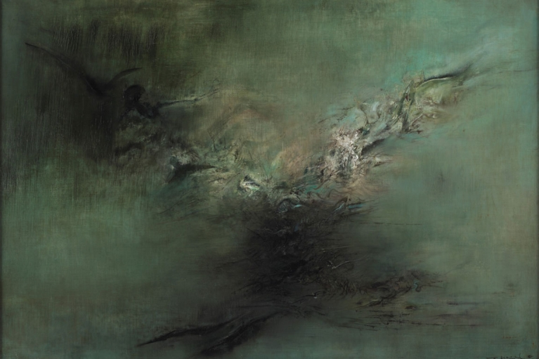Zao Wou-Ki, 02.04.59, 1959, Oil on canvas, 91 x 132 cm