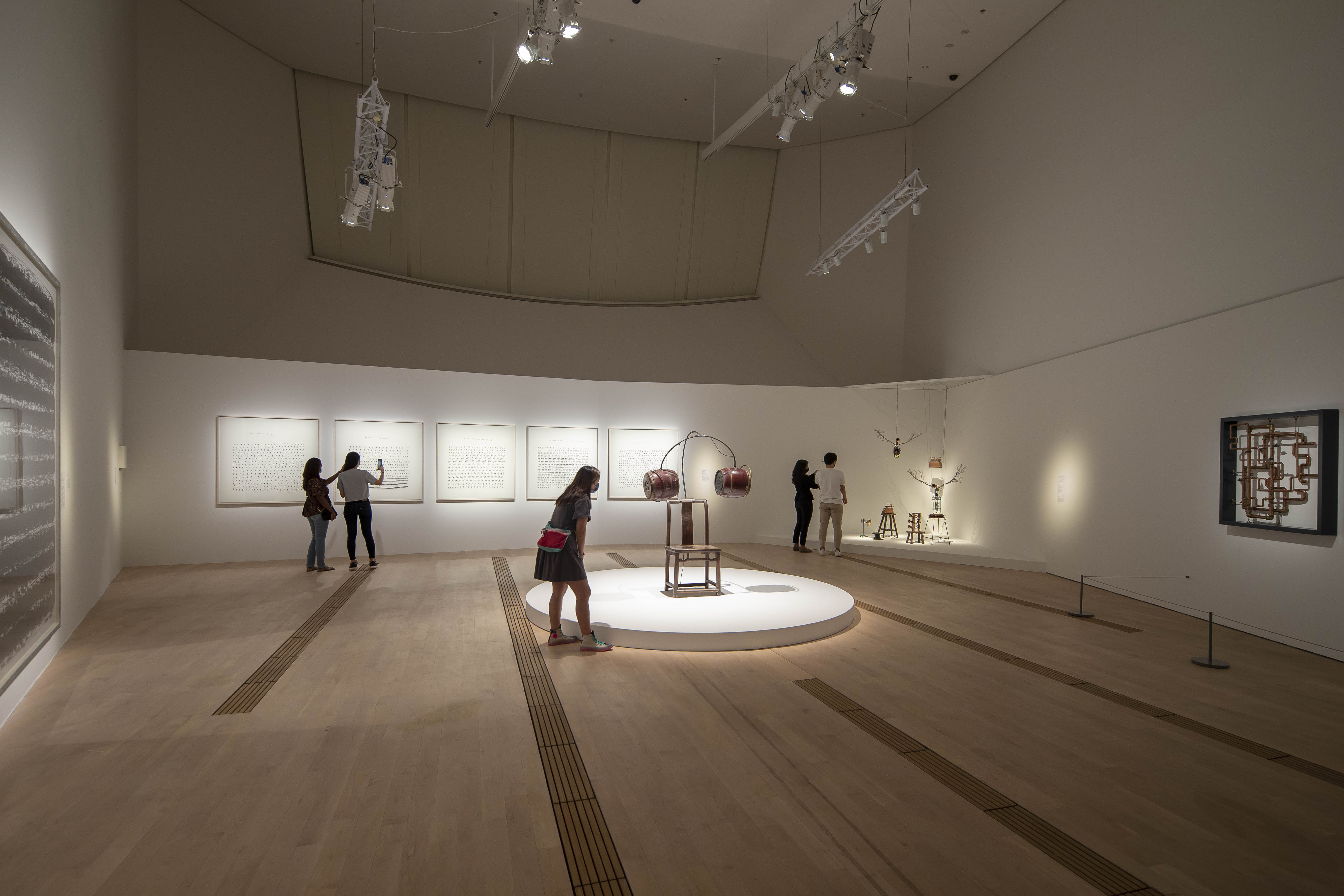 Chen Zhen in the group show Orchestral Manoeuvres: See Sound. Feel Sound. Be Sound at ArtScience Museum
