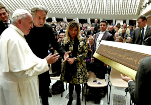 Bernar Venet's Artwork Blessed by the Pope