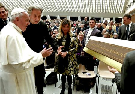 Bernar Venet's Artwork Blessed by the Pope